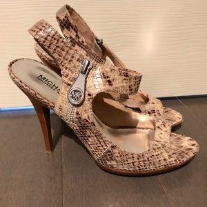 Michael Kors Leather Snakeskin Heels